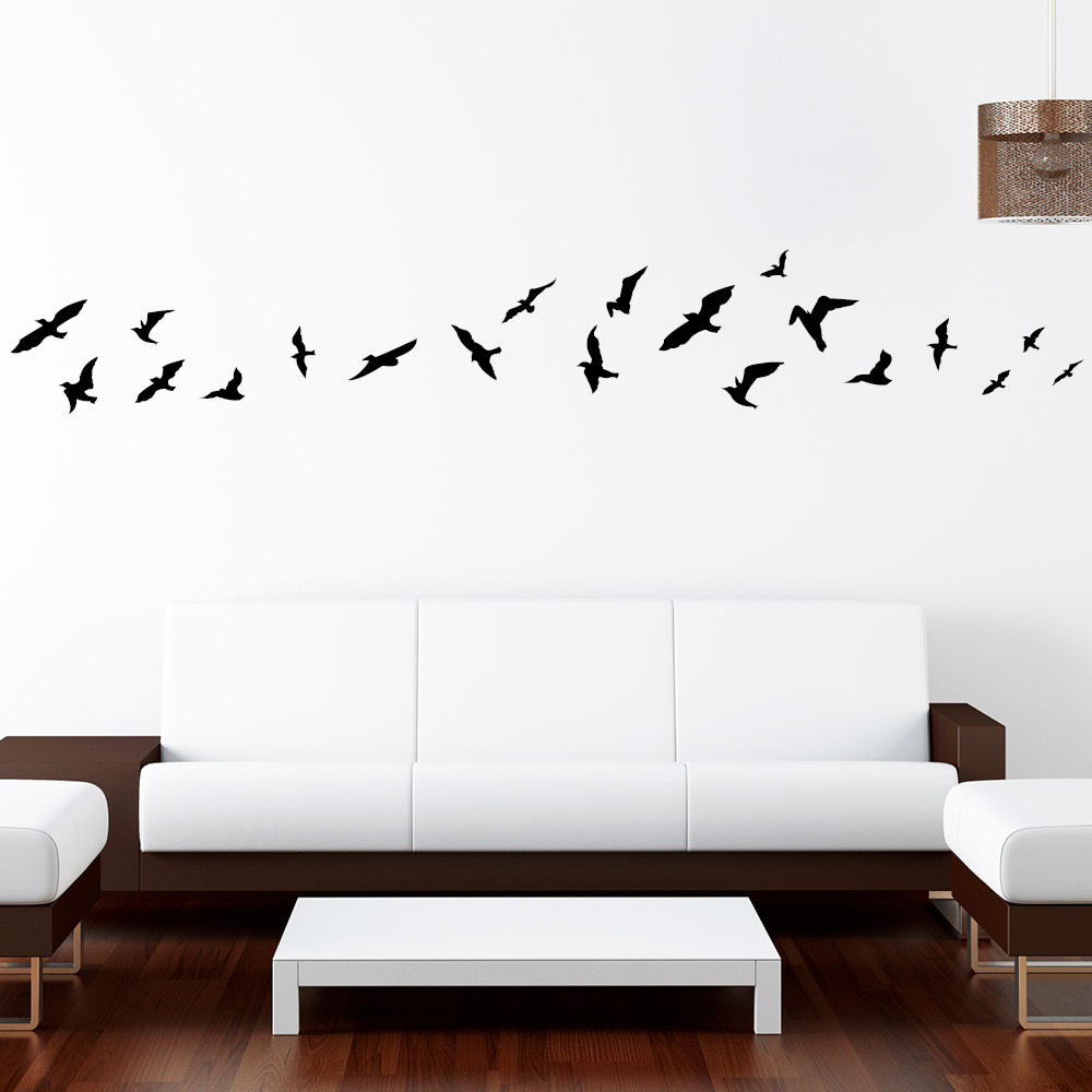 vogelflug 20teilig wandtattoo. Black Bedroom Furniture Sets. Home Design Ideas