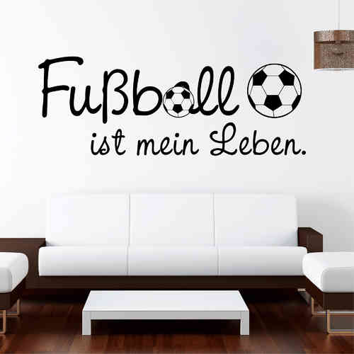 fu ball wandtattoo loft wandsticker. Black Bedroom Furniture Sets. Home Design Ideas