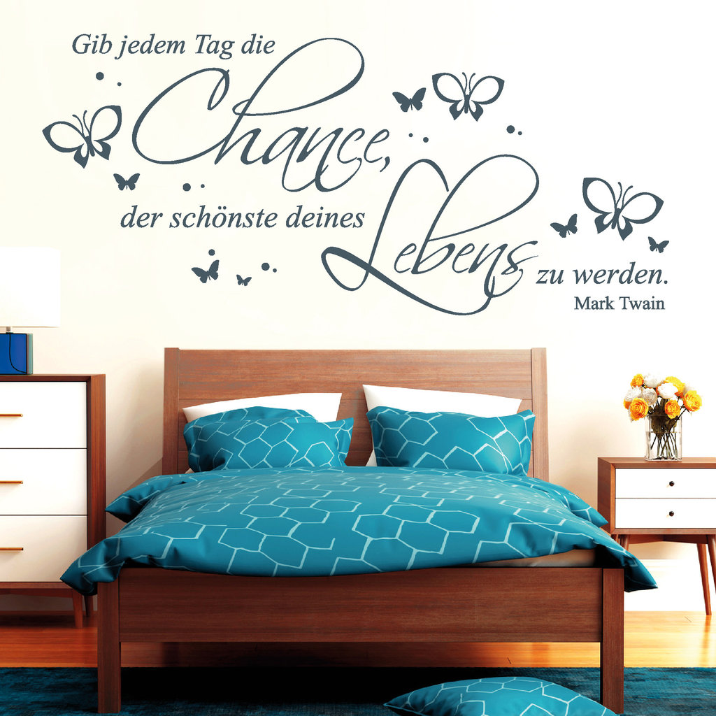 zitat gib jedem tag die chance mark twain wall decal. Black Bedroom Furniture Sets. Home Design Ideas
