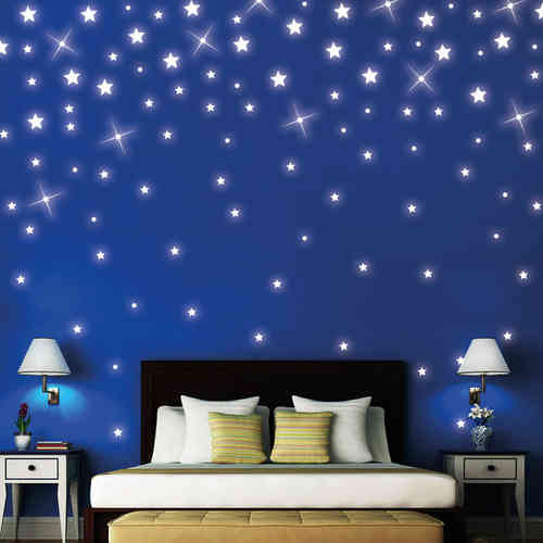 sternenhimmel wandtattoo loft wandsticker. Black Bedroom Furniture Sets. Home Design Ideas