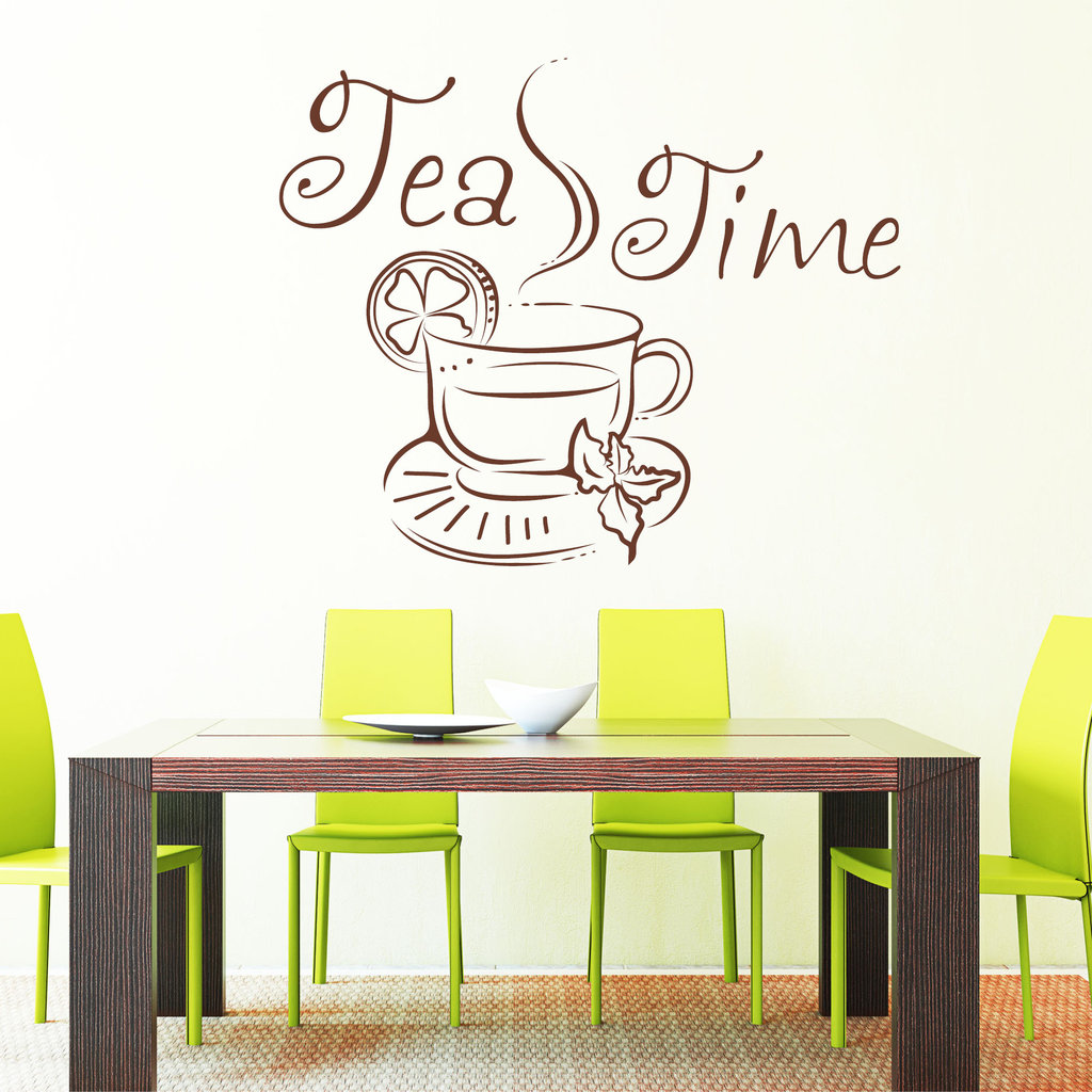wandtattoo tea time pictures to pin on pinterest tattooskid. Black Bedroom Furniture Sets. Home Design Ideas