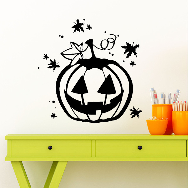 halloween k rbis wandtattoo. Black Bedroom Furniture Sets. Home Design Ideas