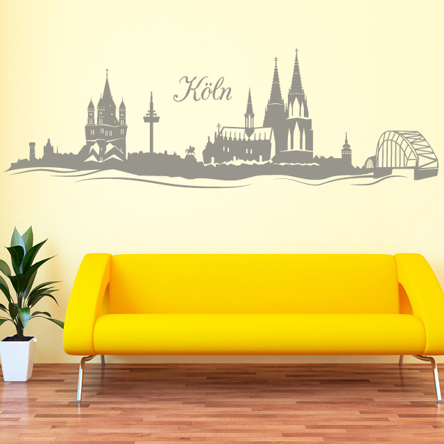 skyline k ln wall decal. Black Bedroom Furniture Sets. Home Design Ideas