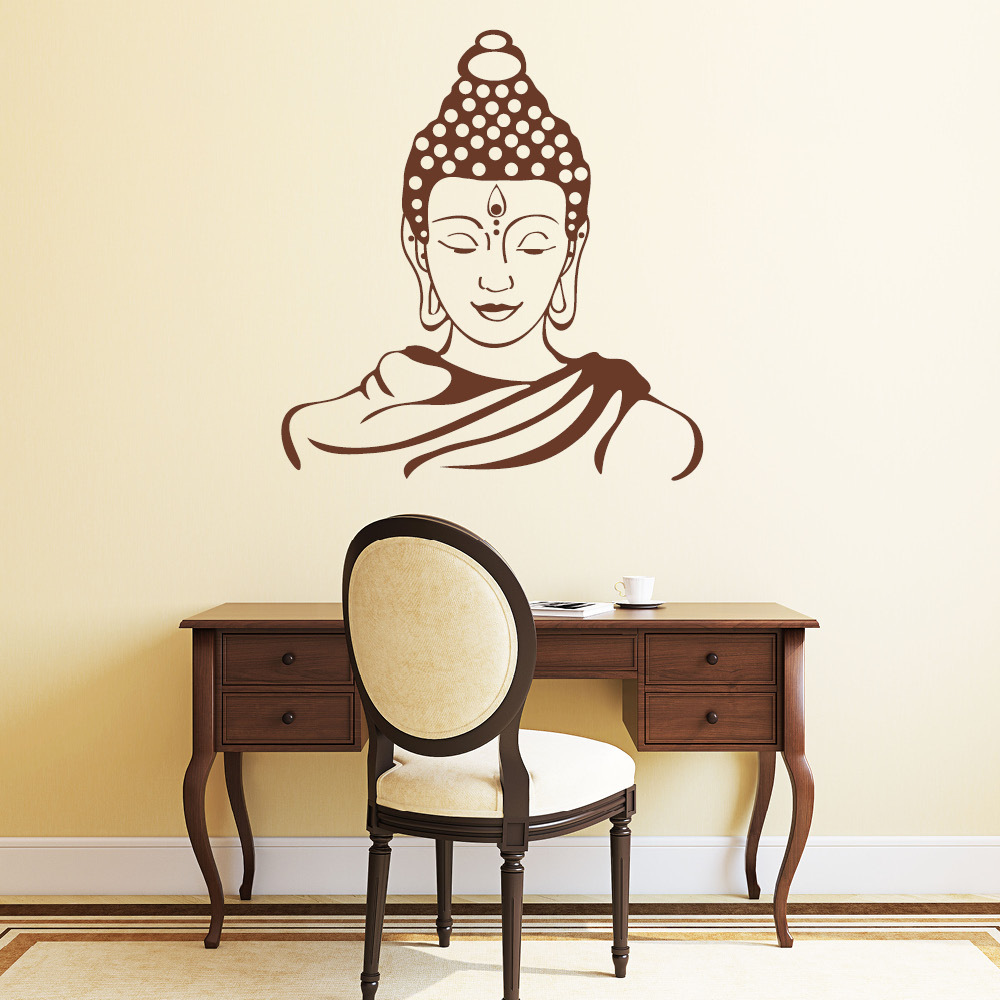 buddha wandtattoo. Black Bedroom Furniture Sets. Home Design Ideas