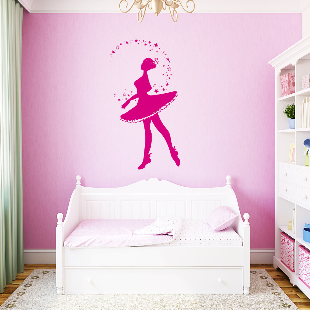 wandtattoo little ballerina pictures to pin on pinterest tattooskid. Black Bedroom Furniture Sets. Home Design Ideas