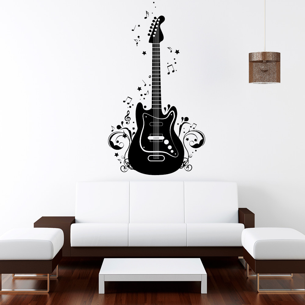 wandtattoo gitarre noten reuniecollegenoetsele. Black Bedroom Furniture Sets. Home Design Ideas