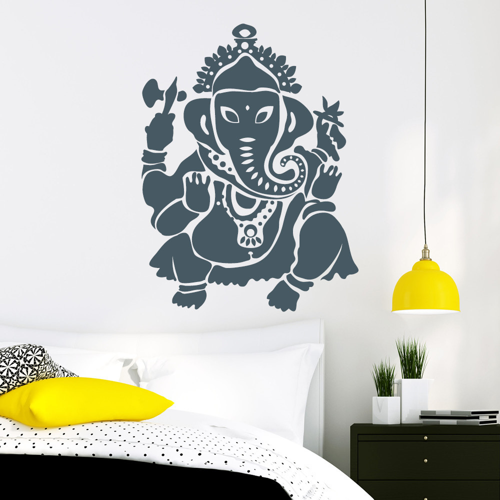 ganesha elefant buddha wandtattoo. Black Bedroom Furniture Sets. Home Design Ideas
