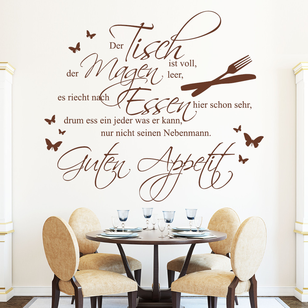 spruch f r k che co kitchen wall decal. Black Bedroom Furniture Sets. Home Design Ideas