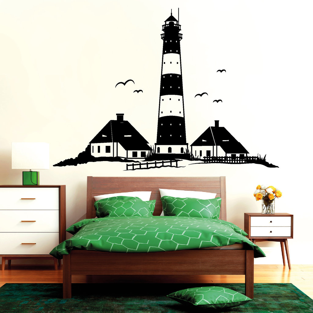 westerhever leuchtturm st peter ording wandtattoos. Black Bedroom Furniture Sets. Home Design Ideas