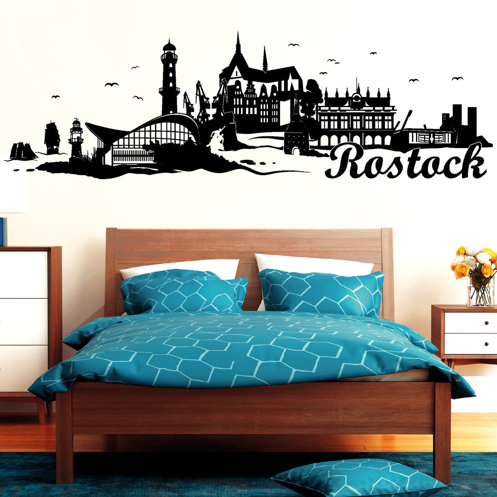 rostock warnem nde skyline wandtattoos. Black Bedroom Furniture Sets. Home Design Ideas