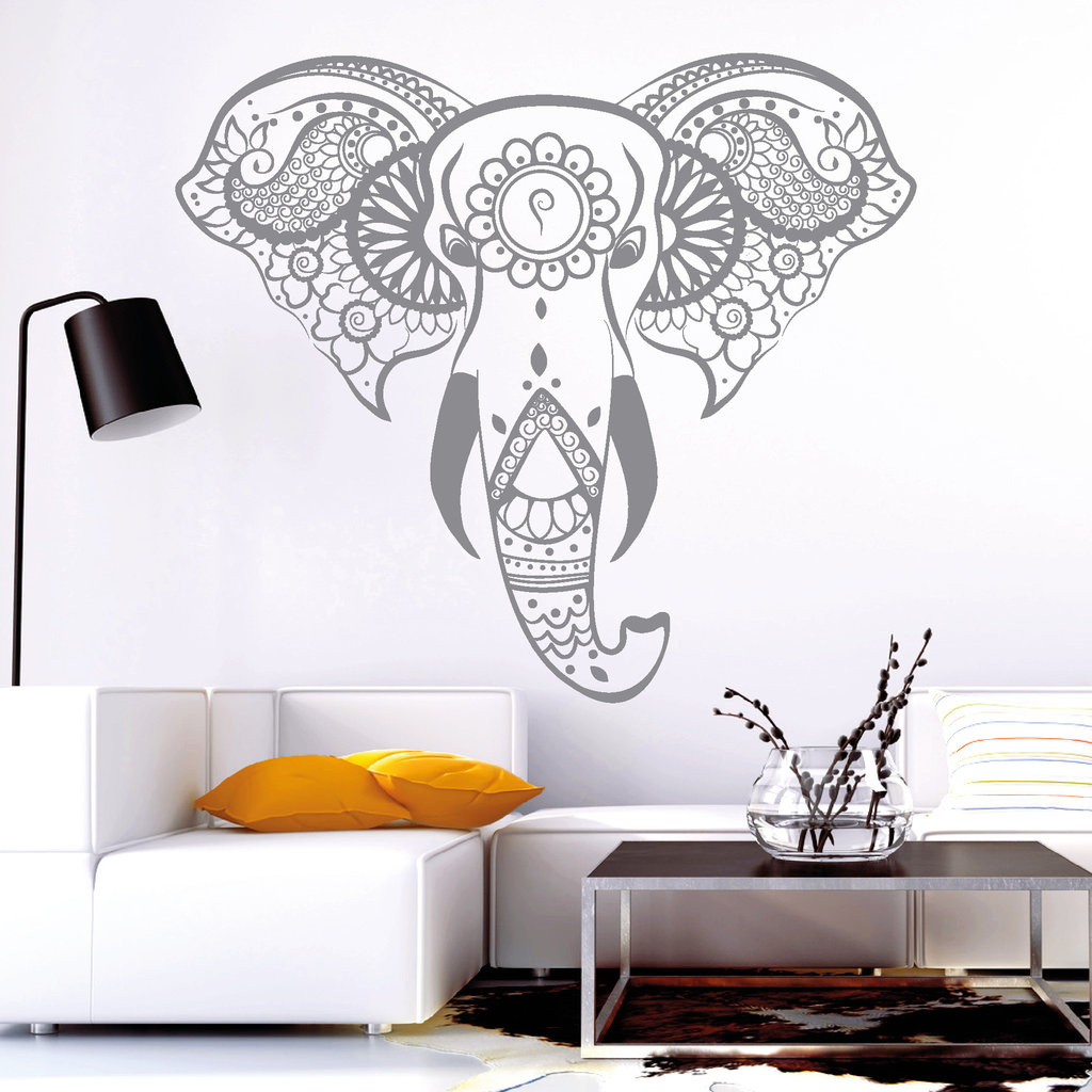 10820 wandtattoo loft aufkleber indischer elefant. Black Bedroom Furniture Sets. Home Design Ideas