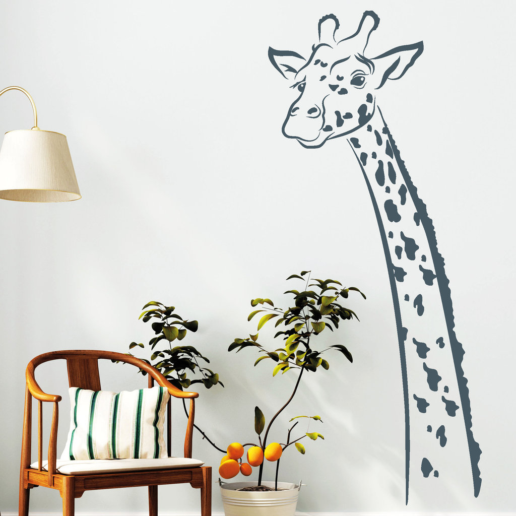 giraffe deko afrika safari wandtattos. Black Bedroom Furniture Sets. Home Design Ideas