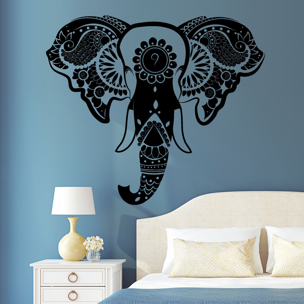 wandtattoo indischer elefant reuniecollegenoetsele. Black Bedroom Furniture Sets. Home Design Ideas