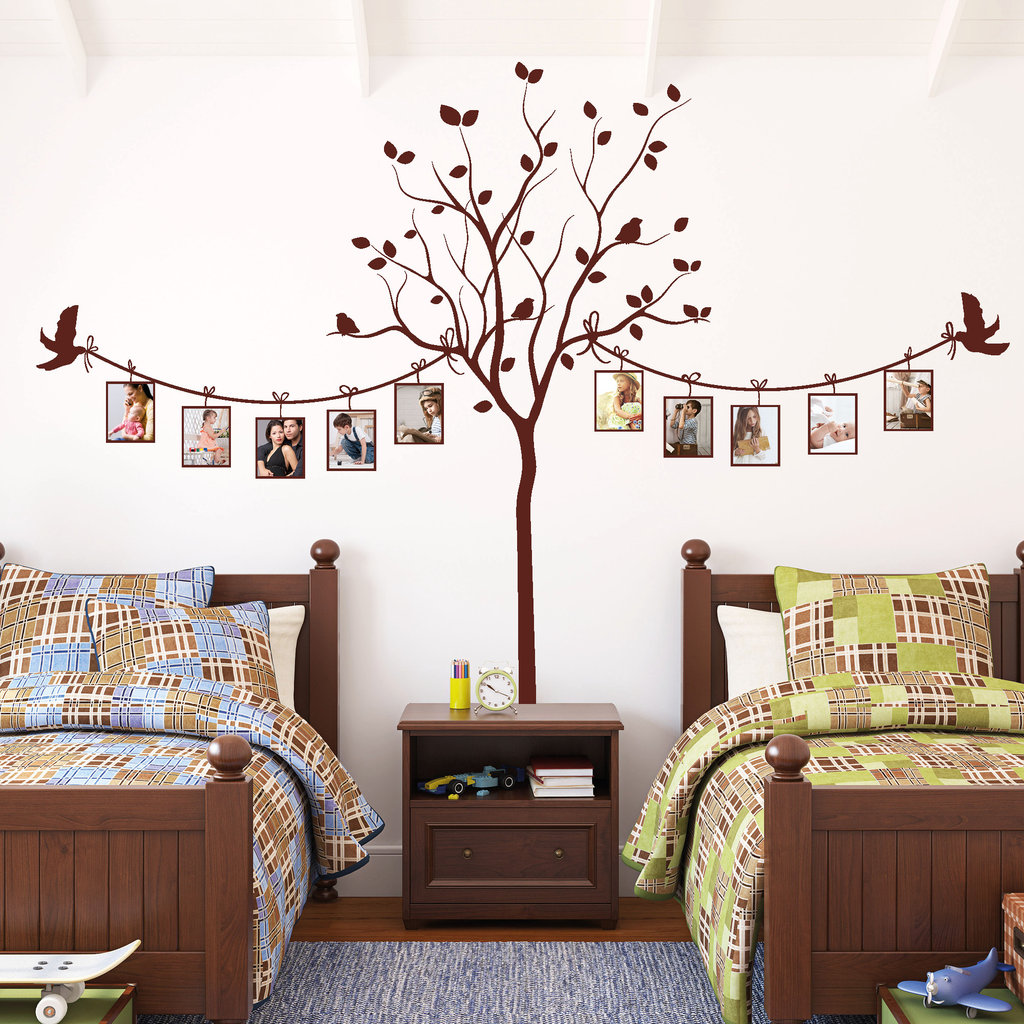 foto baum mit v geln wandtattoos. Black Bedroom Furniture Sets. Home Design Ideas