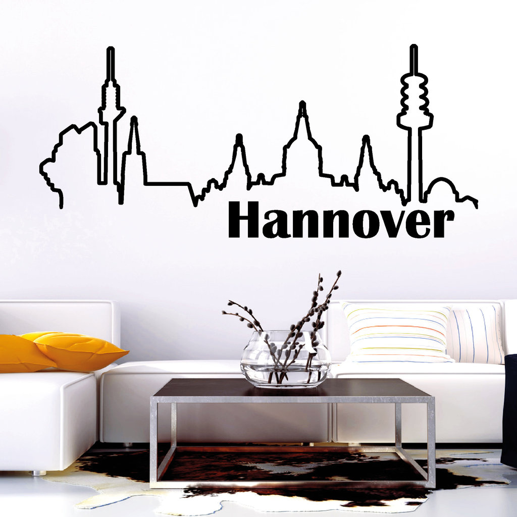 10916 wandtattoo loft skyline hannover niedersachsen. Black Bedroom Furniture Sets. Home Design Ideas