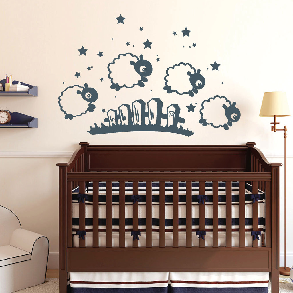 wandtattoo kinderzimmer schafe reuniecollegenoetsele. Black Bedroom Furniture Sets. Home Design Ideas