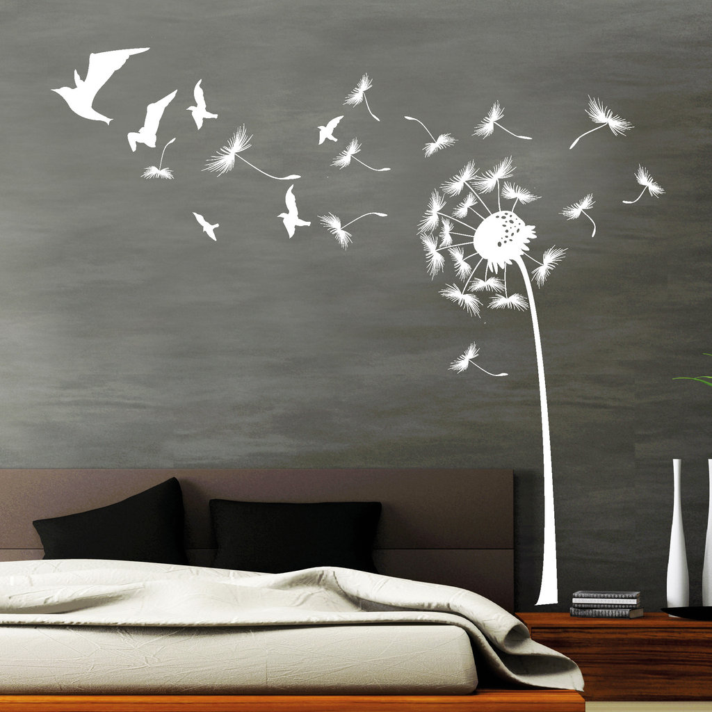 sale pusteblume mit v geln wall art. Black Bedroom Furniture Sets. Home Design Ideas