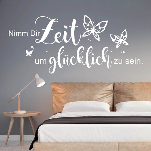 spr che worte zitate wandtattoo loft wandsticker. Black Bedroom Furniture Sets. Home Design Ideas