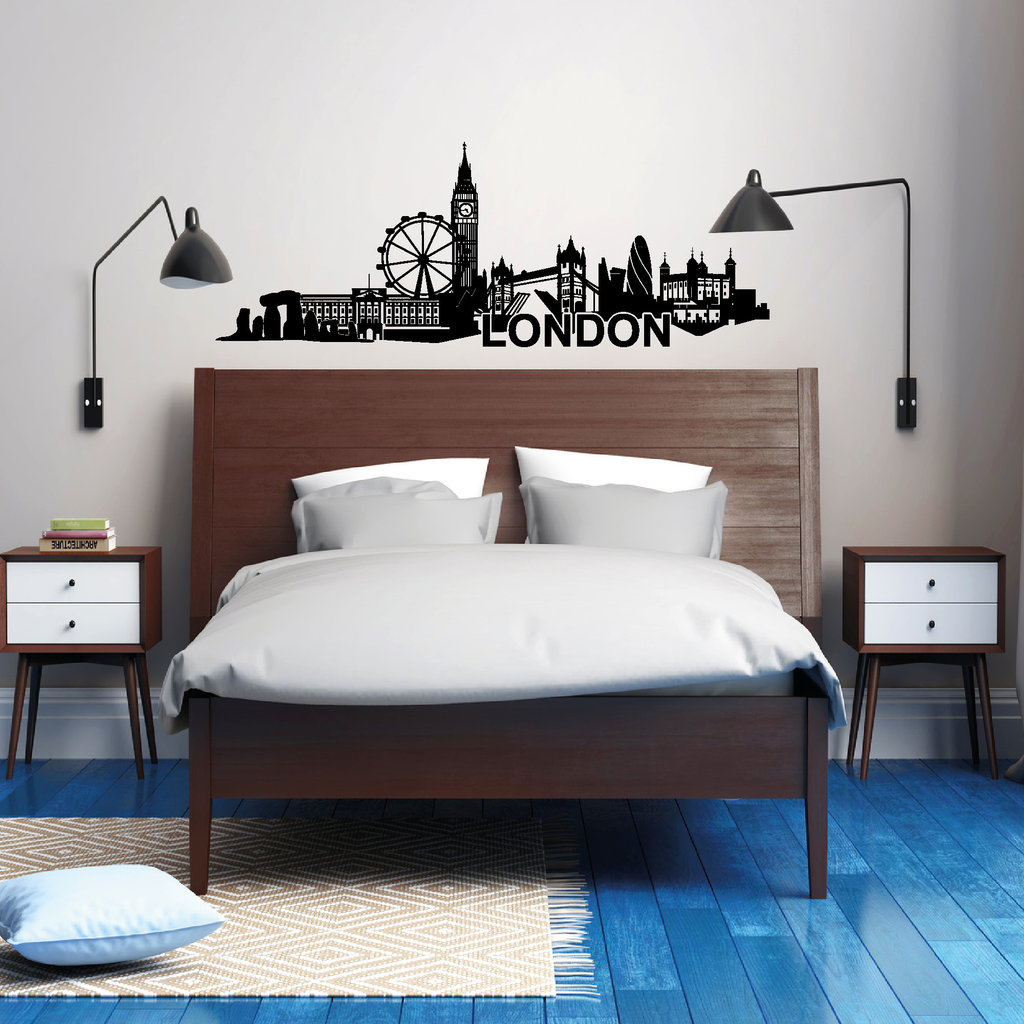 londoner skyline wandtattoo. Black Bedroom Furniture Sets. Home Design Ideas