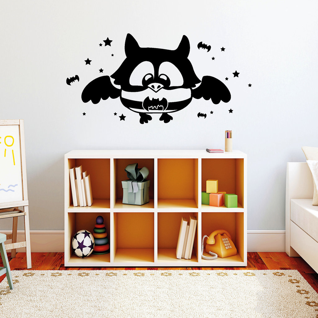 batman eule wandtattoo. Black Bedroom Furniture Sets. Home Design Ideas