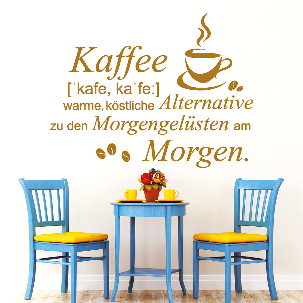 spruch kaffee mit kaffeetasse i wandtattoo. Black Bedroom Furniture Sets. Home Design Ideas