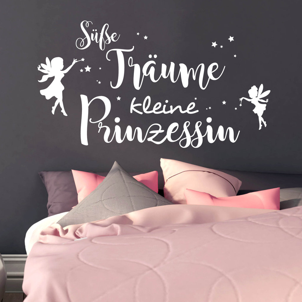 s e tr ume kleine prinzessin wandtattoo. Black Bedroom Furniture Sets. Home Design Ideas