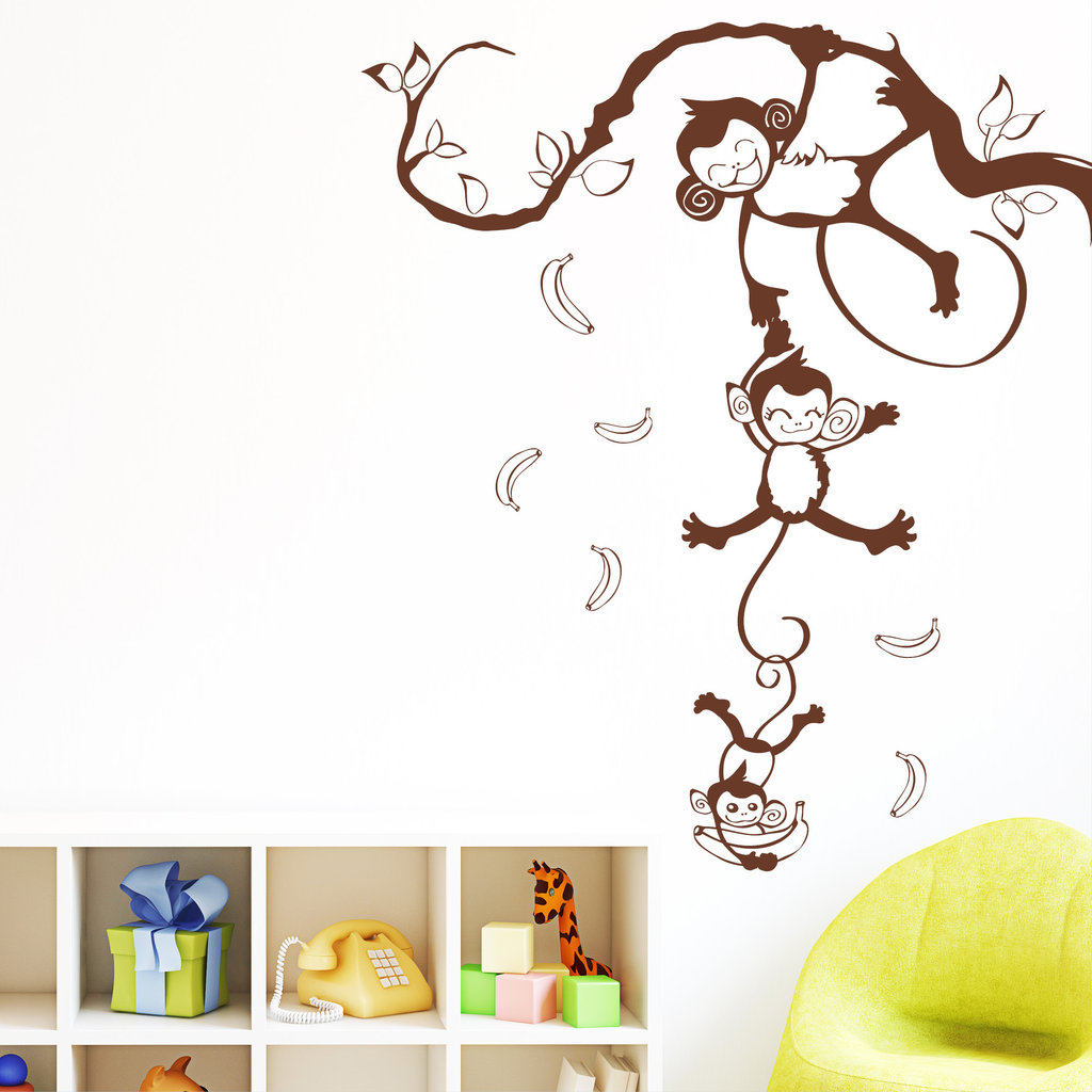 Awesome Wandtattoo Kinderzimmer Affe Contemporary ...