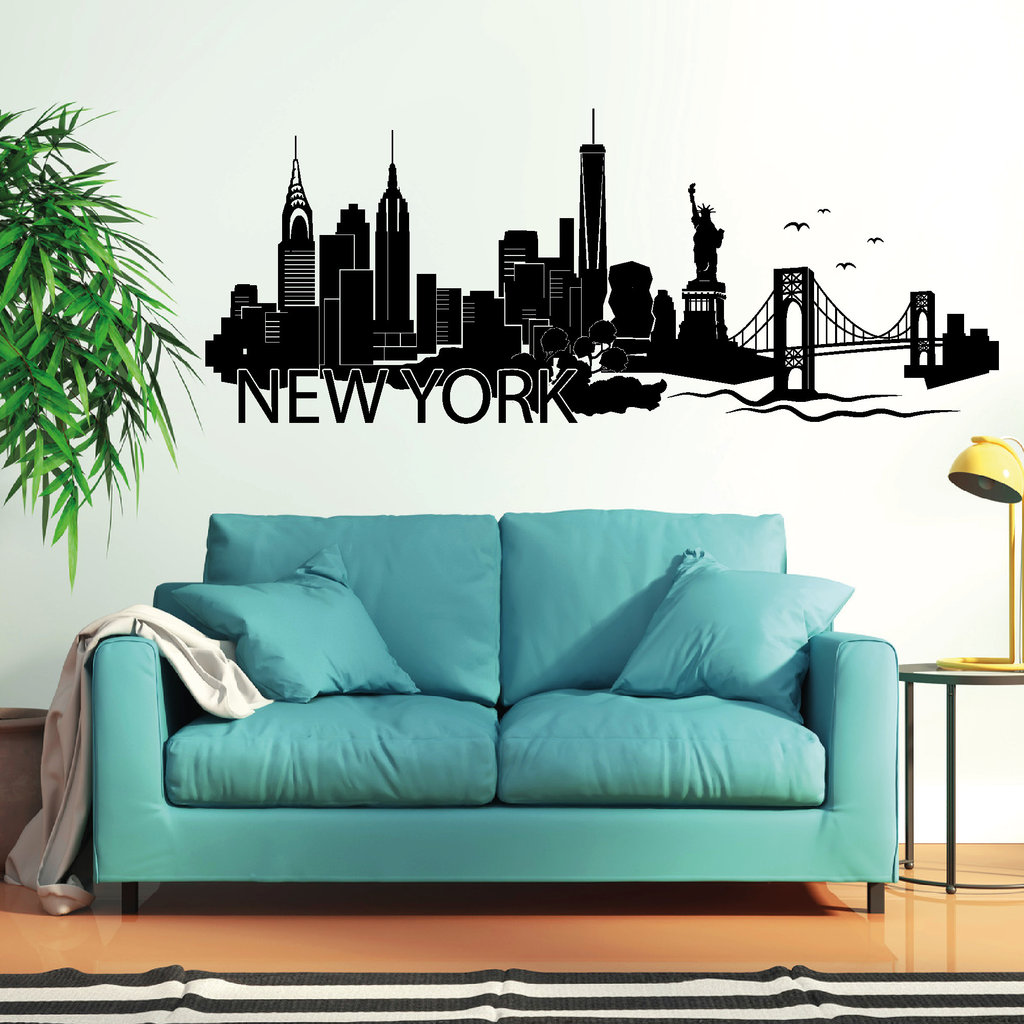 "Faszinierend New York Wandtattoo Galerie Von ""new York"" Skyline. """