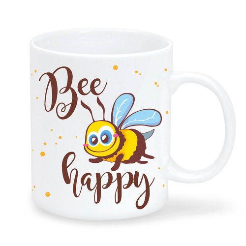 "Keramiktasse ""Bee Happy"""