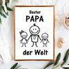 "Print Illustration ""Bester Papa der Welt"" Kinder"