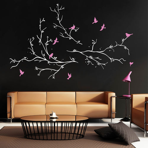 b ume ste wandtattoo loft wandsticker. Black Bedroom Furniture Sets. Home Design Ideas
