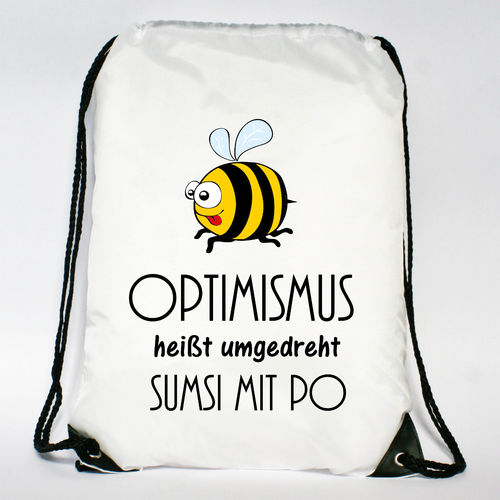 "Turnbeutel ""Optimismus - Sumsi mit Po"""