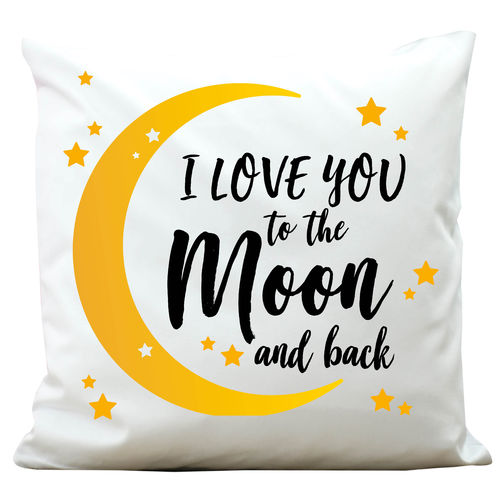 "Kissen ""I love you to the Moon"" Polyester"