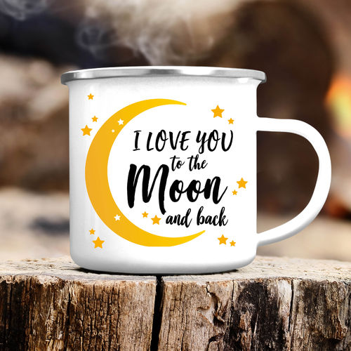 "Campingbecher ""I love you to the Moon and back"""