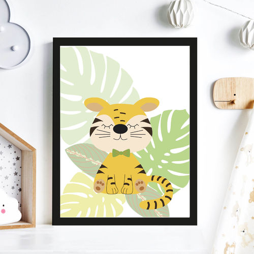 Print Illustration Kinderzimmer Poster Tiger