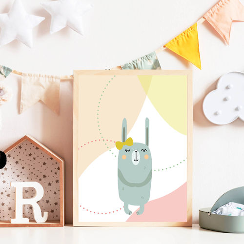 Print Illustration Kinderzimmer Poster Hase