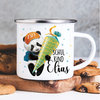 Kindertasse Emaille Panda Einschulung Wunschname